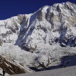 A view of Annapurna I with height 8091m. North Nepal's Annapurna Base Camp Trek 9 days package