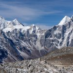 Manaslu and Syancha glaciers as seen on around with Astounding view of Mt.Manaslu and its range from larke pass (5106 m)-Manaslu circuit trek.
