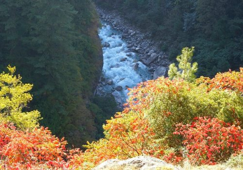 Amazing landscape in Budhi Gandaki river along the way to Tsum Valley trek on North Nepal's Tsum Valley Trekking 15 Days package