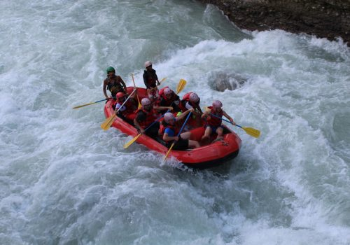 Day trip in Upper seti river rafting Pokhara Nepal