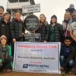 last day for Student from Newcastle University Australia completing Ghorepani Poon Hill trek of Annapurna circuit.