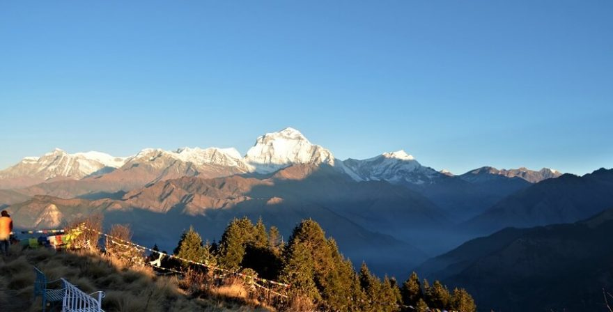 out standing view of gurja peak from poon hill- six days of poon hill,Ghandruk trek.