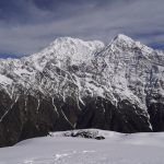 Amazing view of Annapurna South from the first viewpoint of Mardi Himal on North Nepal's Mardi Himal Trek 9 days package