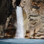 Waterfall on the way to annpurna north base camp trek
